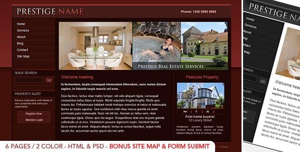 Prestige  Realestate - HTML - Corporate Site Templates