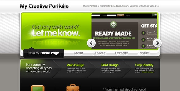 Creative Portfolio for Freelancers or Studios - Portfolio Creative