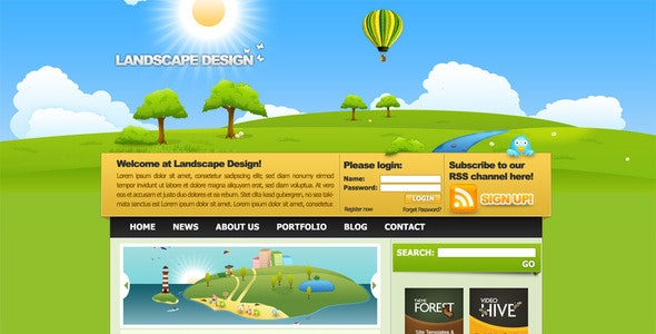 Landscape Design Drawn Style Template By Mandloys Themeforest,Formal Simple Background Design Portrait