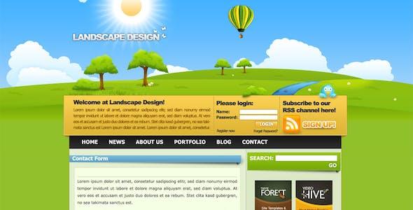 Landscape Design Drawn Style Template