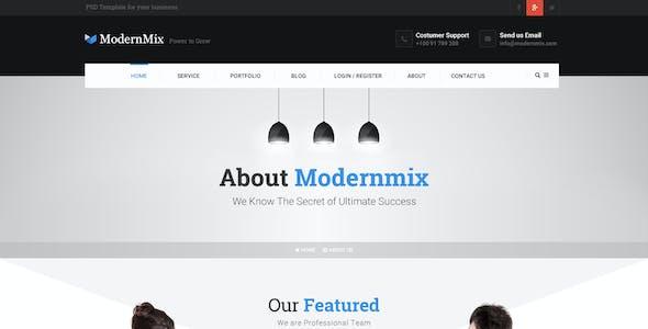 ModernMix - PSD Template