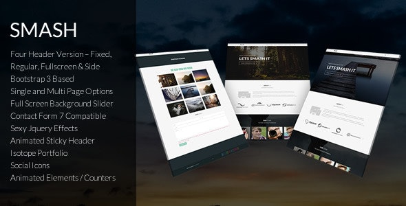 Smash - Responsive Bold Multipage/Onepage Theme - Business Corporate