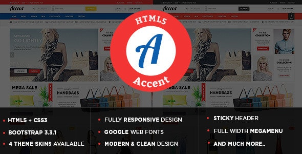 Accent - Responsive Multipurpose HTML5 Template - Shopping Retail