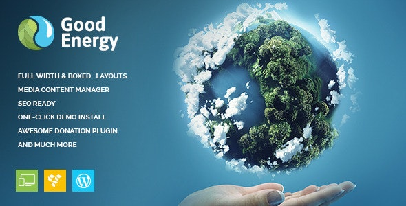 Good Energy - Ecology & Renewable Power Company WordPress Theme - Business Corporate
