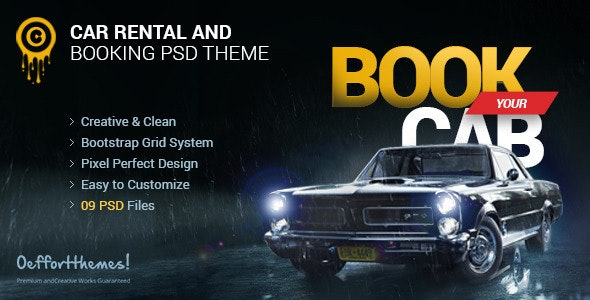 Zocari | Cab Book and Rental PSD Template by WordPress-Studio
