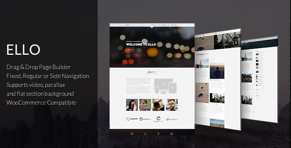 Ello - Responsive Bold Multipage/Onepage Theme - Business Corporate