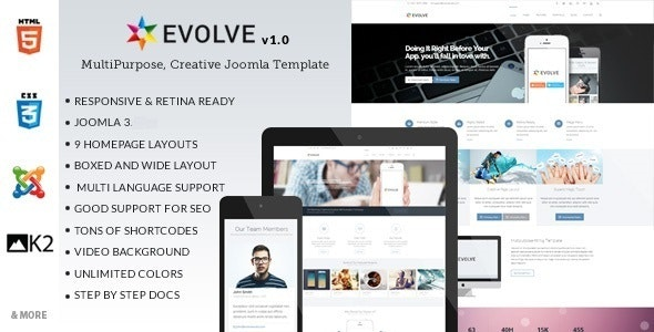 Evolve - Responsive Multi-Purpose Joomla Template - Corporate Joomla