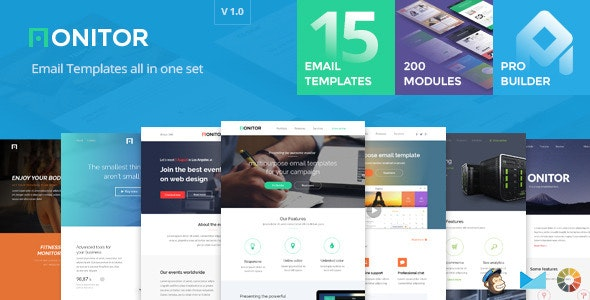 Monitor - Email templates set + Builder 2.0 - Email Templates Marketing