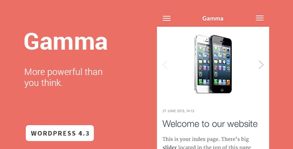 Gamma - Mobile Retina | HTML5 and CSS3 WordPress - Mobile WordPress