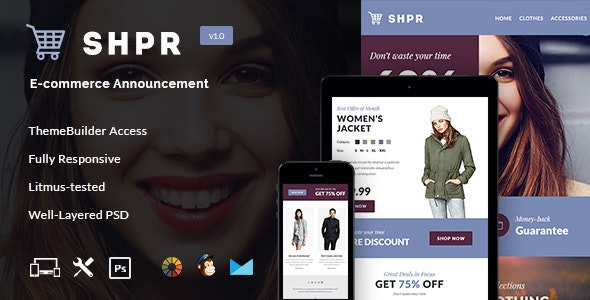 SHPR - E-commerce Newsletter + Builder Access - Email Templates Marketing