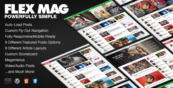 Flex Mag - Responsive WordPress News Theme - News / Editorial Blog / Magazine