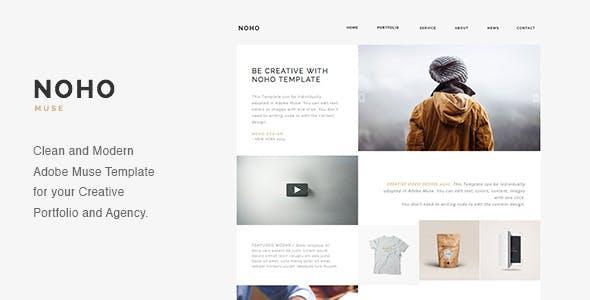 NOHO - Creative Agency Portfolio Muse Template