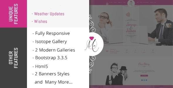 Me - Wedding & Celebration HTML Template - Wedding Site Templates