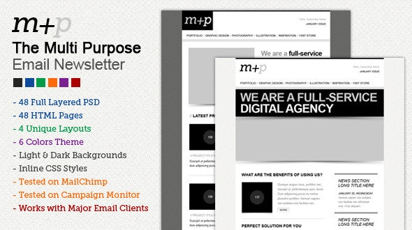 The Multi Purpose HTML Email Template (48 HTMLS) - Email Templates Marketing