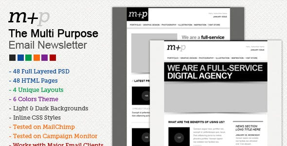 The Multi Purpose HTML Email Template (48 HTMLS)
