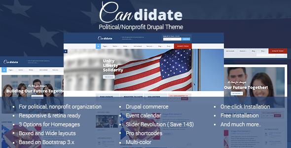 Candidate - Political/Nonprofit Drupal Theme - Nonprofit Drupal