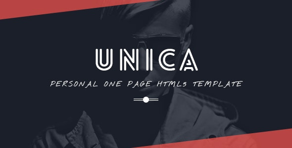 Unica Personal One-page HTML5 Template - Personal Site Templates