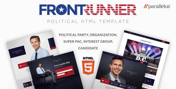 Political HTML Template - FrontRunner - Political Nonprofit