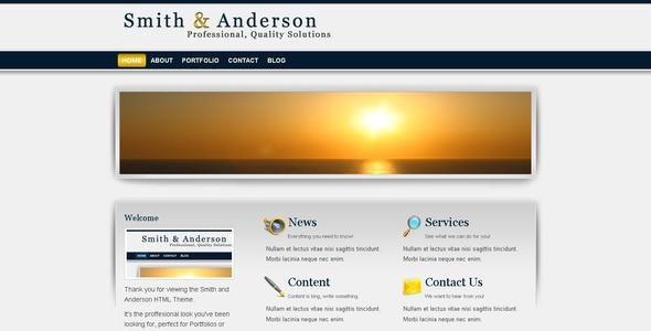 Smith & Anderson : Business & Portfolio Template - Corporate Site Templates
