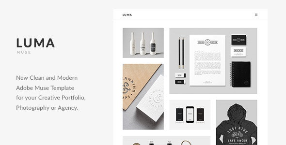 LUMA - Creative Multi-Purpose Muse Template - Muse Templates