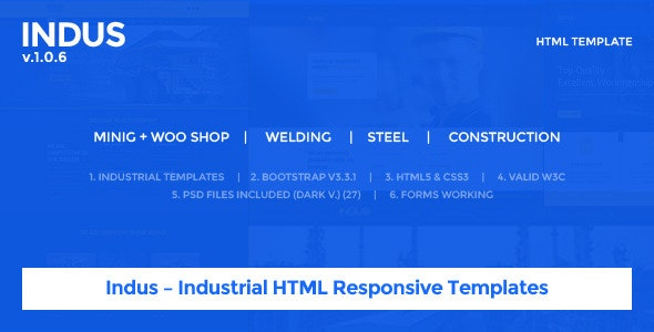 Indus – Industrial HTML Responsive Templates - Site Templates