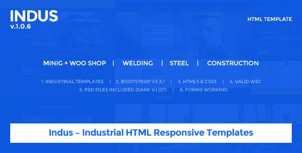 Indus – Industrial HTML Responsive Templates