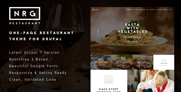 NRGrestaurant - Restaurant & Catering Drupal Theme - Food Retail