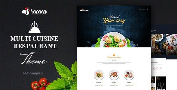 Rococo  Multipurpose Restaurant  PSD Template