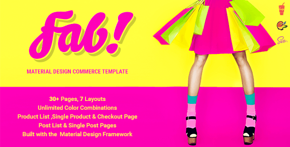 FAB! - Material Design Ecommerce HTML Template - Retail Site Templates