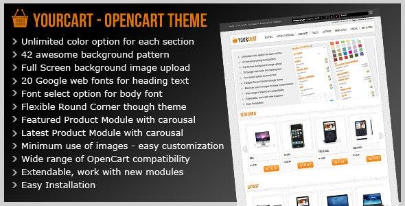 Yourcart - Opencart Premium Theme - OpenCart eCommerce