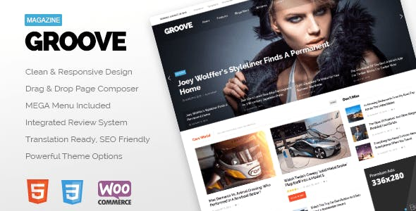 GROOVE - Clean Newspaper & Magazine Theme
