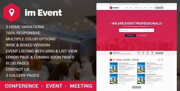 Event Management HTML Template with RTL version - Business Corporate