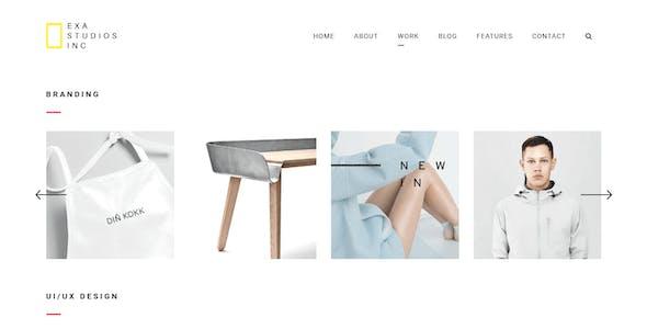 Exa - A Fresh & Creative Portfolio HTML5 Template