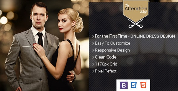 The Alteration Shop  - HTML Template for Tailors - Fashion Retail