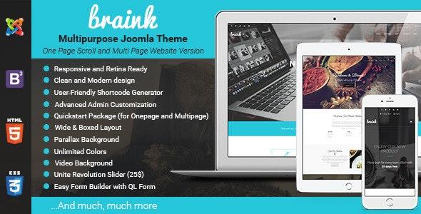 Braink - Responsive Multi-Purpose Joomla Template - Business Corporate
