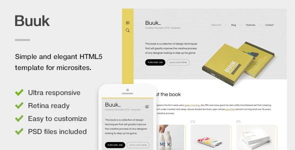 Buuk - A Unique Microsite & Landing HTML5 Template - Marketing Corporate