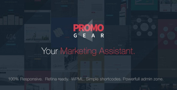 PromoGear — Creative One Page Multipurpose Theme - Creative WordPress
