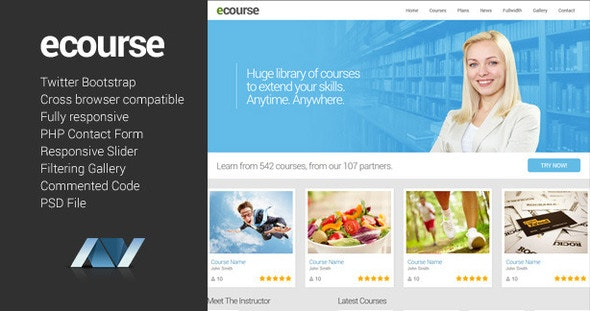 Ecourse - Responsive Website Template - Miscellaneous Site Templates