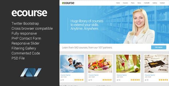 Ecourse - Responsive Website Template