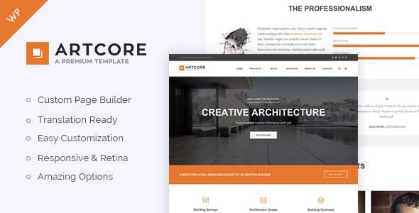 Artcore - Building Architecture WordPress Theme
