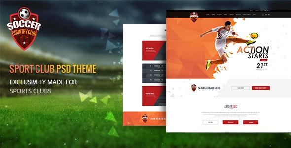 Soccer Club | Multipurpose PSD Template - Business Corporate
