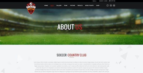 Soccer Club | Multipurpose PSD Template