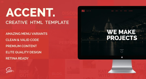 Accent — Creative Responsive OnePage Template - Creative Site Templates