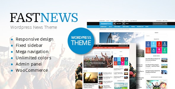 FastNews — Multipurpose Magazine Theme - Blog / Magazine WordPress