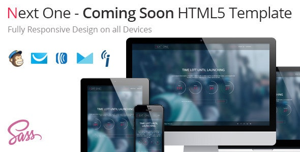 Next One - Coming Soon HTML5 Template - Specialty Pages Site Templates