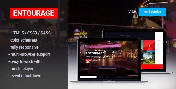 ENTOURAGE - Movie/Film/Cinema Template