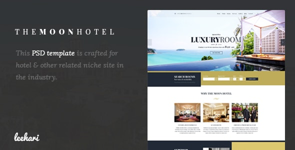 Moon - Hotel PSD Template - Travel Retail