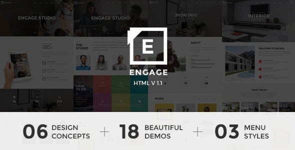 Engage - Creative One Page Parallax - Creative Site Templates