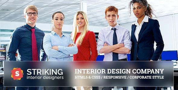 Striking Interior Design Company Template - Business Corporate