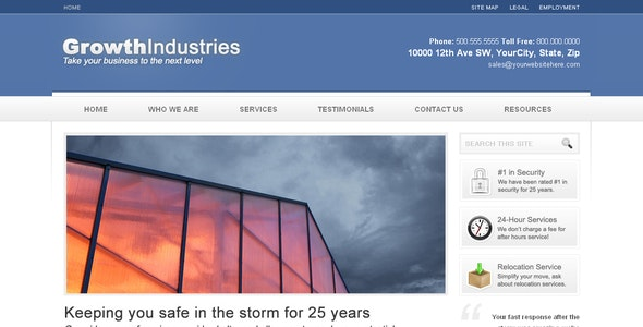 Growth Industries - Business Corporate